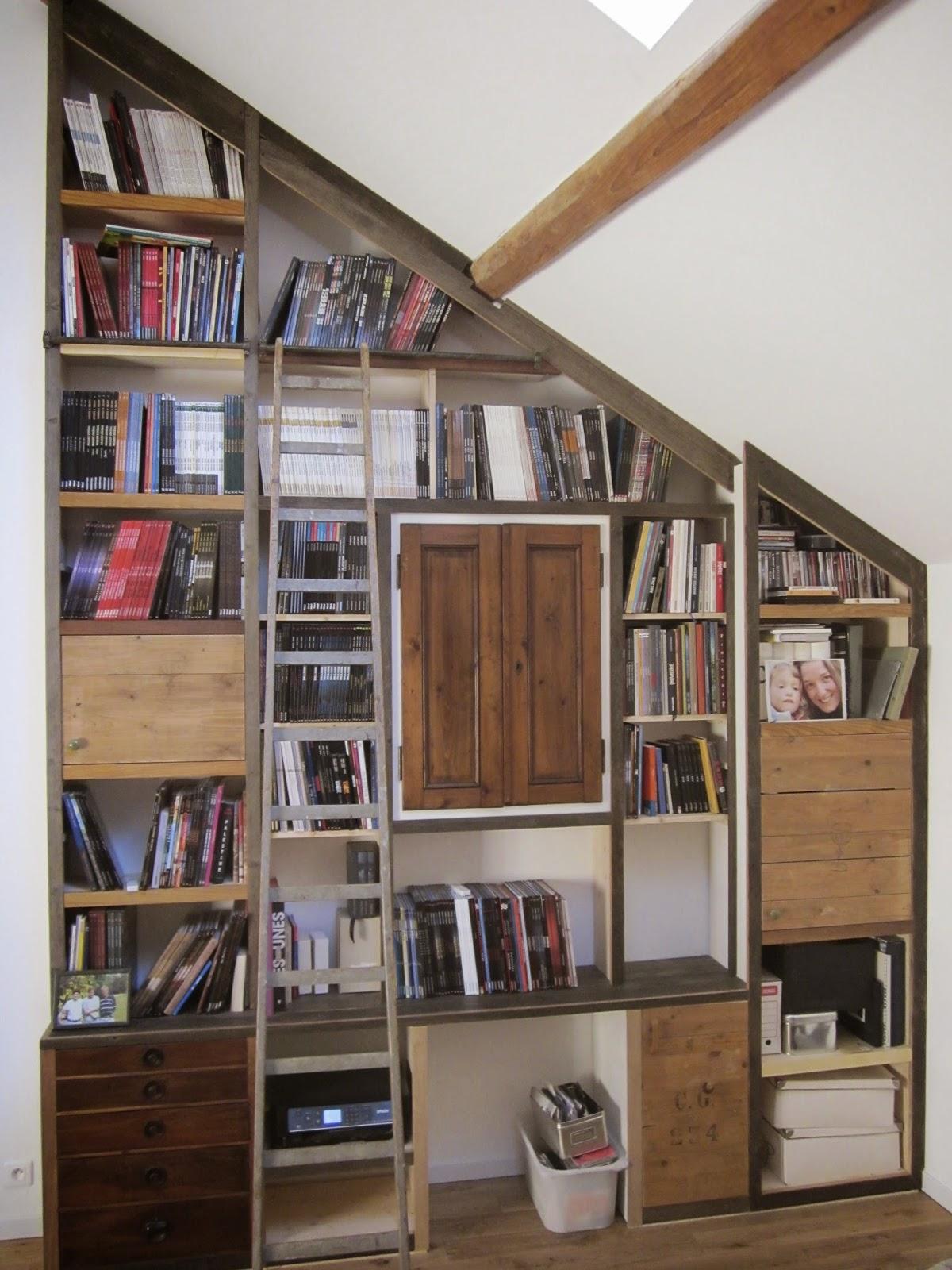 A contre fil vers une co conception du meuble - Bibliotheque sous escalier bois ...