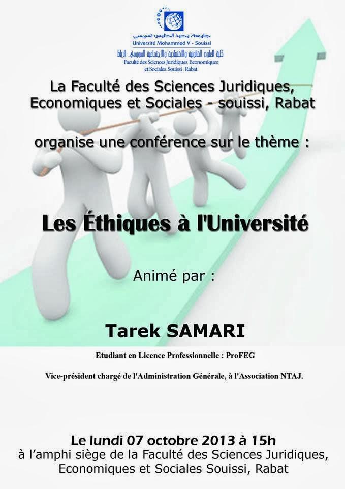 Tarek Samari << Les Éthiques à l'Université >>