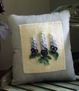 Wool Delphinium Flower Pillow