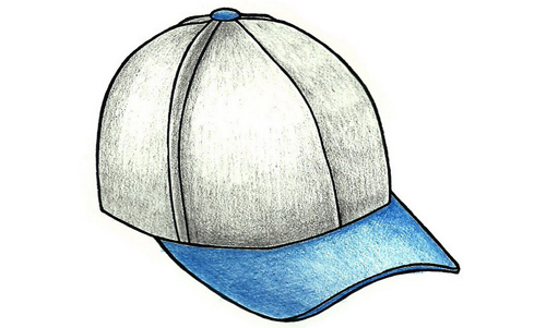 how to draw baseball caps