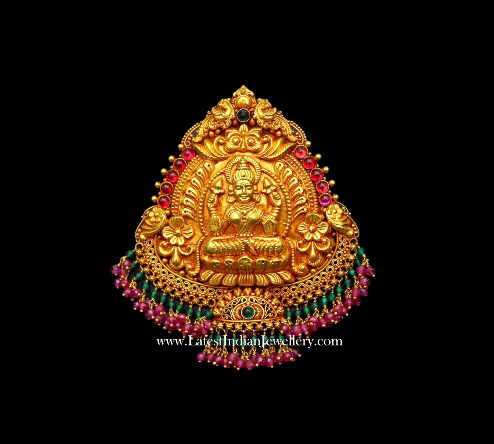 Lakshmi Pendant in 22k Gold