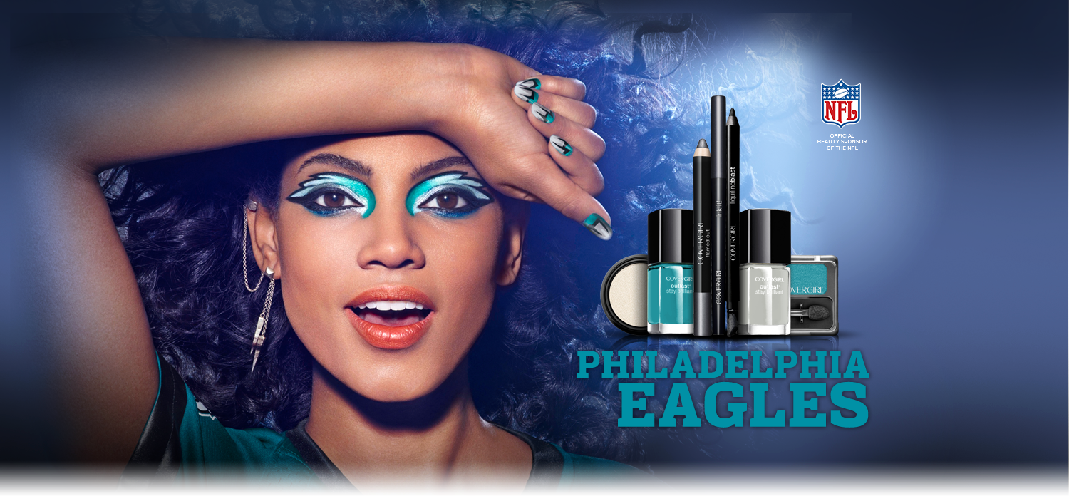 Philadelphia Eagles makeup from Covergirl