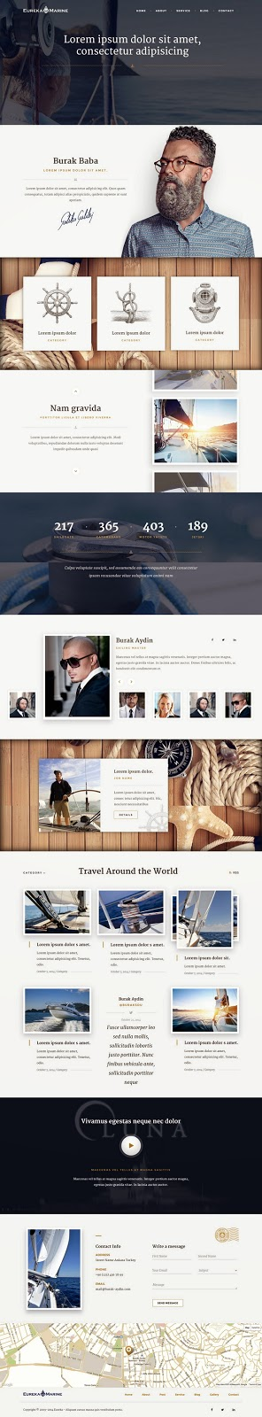 Yacht Luxury Lifestyle Website Template