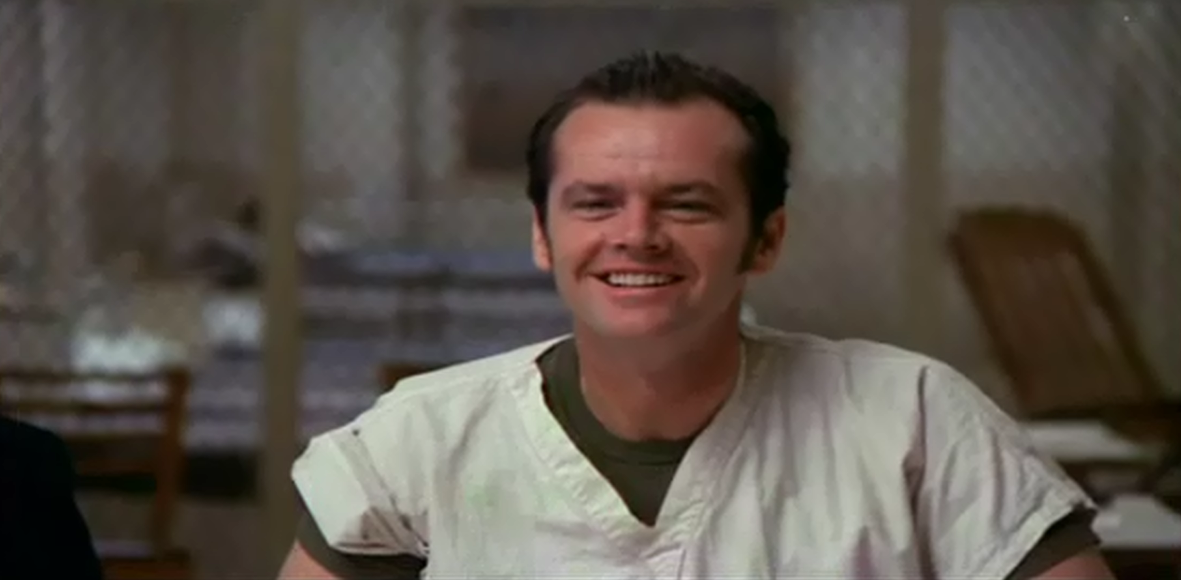 an analysis of the character of randall p mcmurphy in the film one flew over the cuckoos nest Some of the issues addressed by one flew over the cuckoo's nest are not there's so much truth to be found in the rest of the production that this portion of one flew over the cuckoo's nest feels forced and artificial the film's mcmurphy is one of cinema's iconic characters.