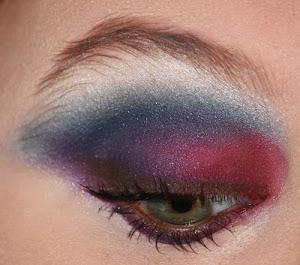 Blue Violet Eye MakeUp