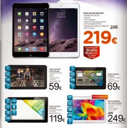 Ofertas de Tablets Carrefour Fin de Año 2014