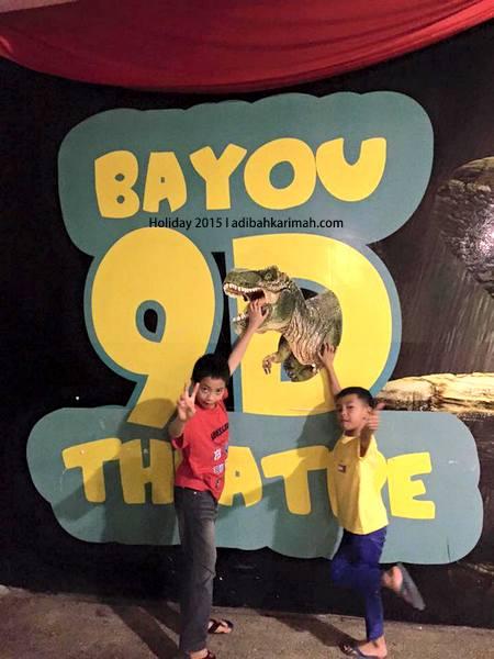 Menonton 9D theatre di Bayou Lagoon Resort Melaka