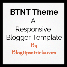 BTNT a Responsive Blogger Theme