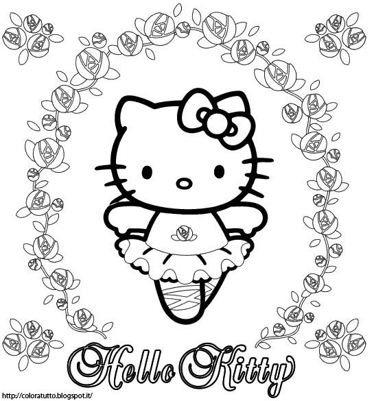 hello kitty disegno da colorare n.9