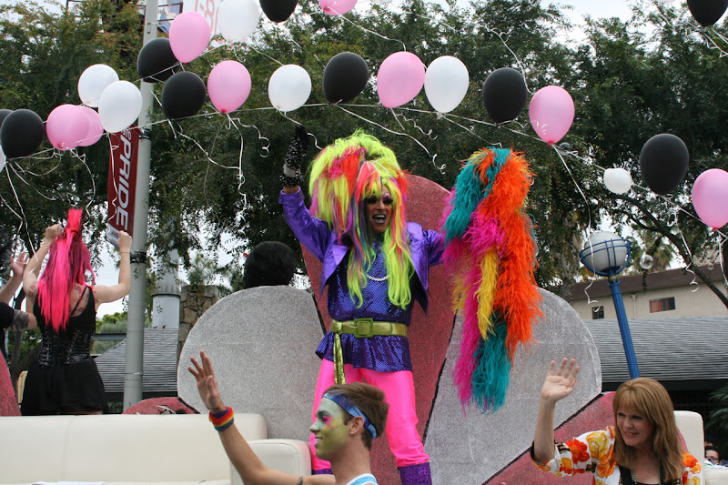 Multi-coloured drag WEHO Pride Parade 2011