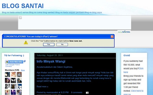 blog santai,blog comel,blog buat duit,cara buat duit dengan blog