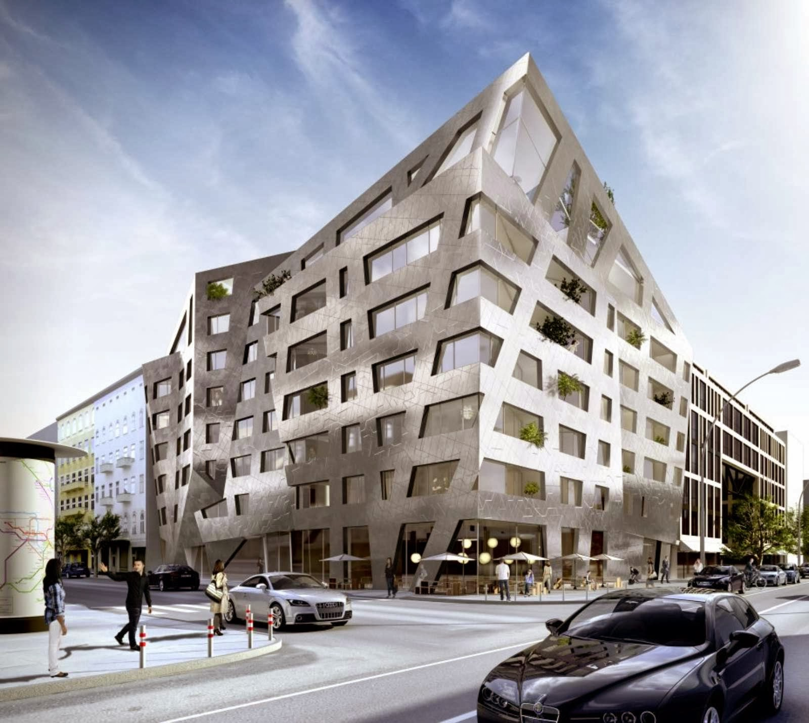 Chausseestrasse 43 by daniel libeskind for Apartment design architecture