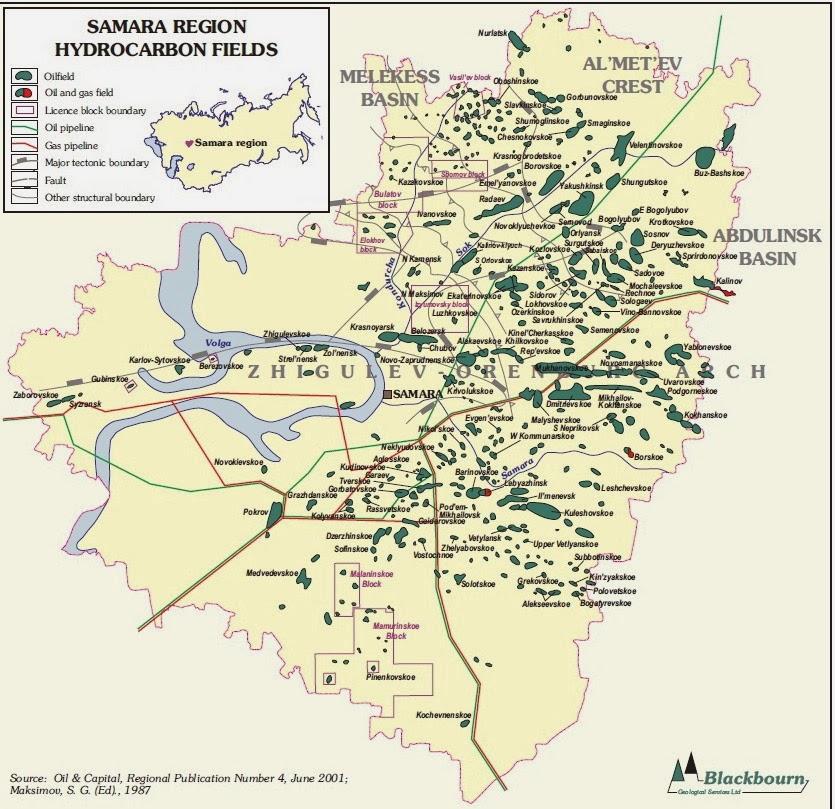 Рис.1 Карта известных