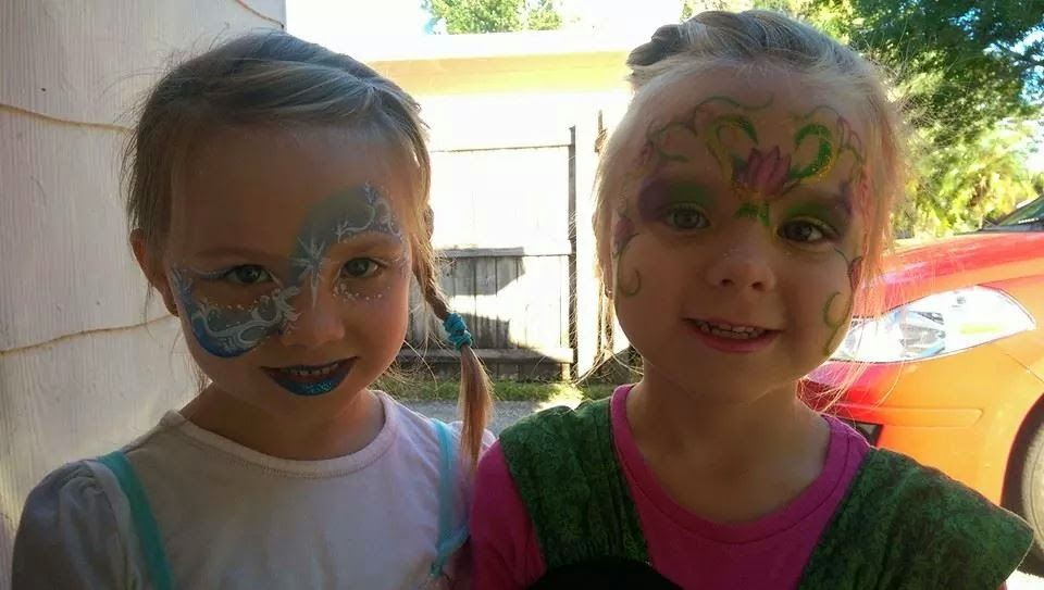 Face Painting Anna Frozen Anna And Elsa Face Painting