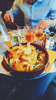 Piatto vegetariano del Relais Gascon, Montmartre, Parigi