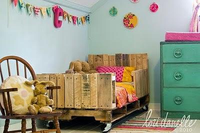 Παιδικό κρεβάτι από παλέτες