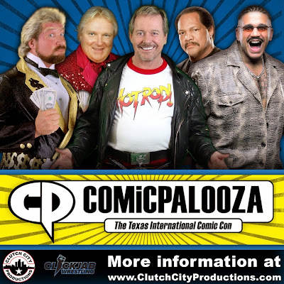 "Comicpalooza 2015 WWE Professional Wrestling Guests - Rowdy Roddy Piper, Bobby ""The Brain"" Heenan, ""The Million Dollar Man"" Ted DiBiase, Ron Simmons & The Godfather"