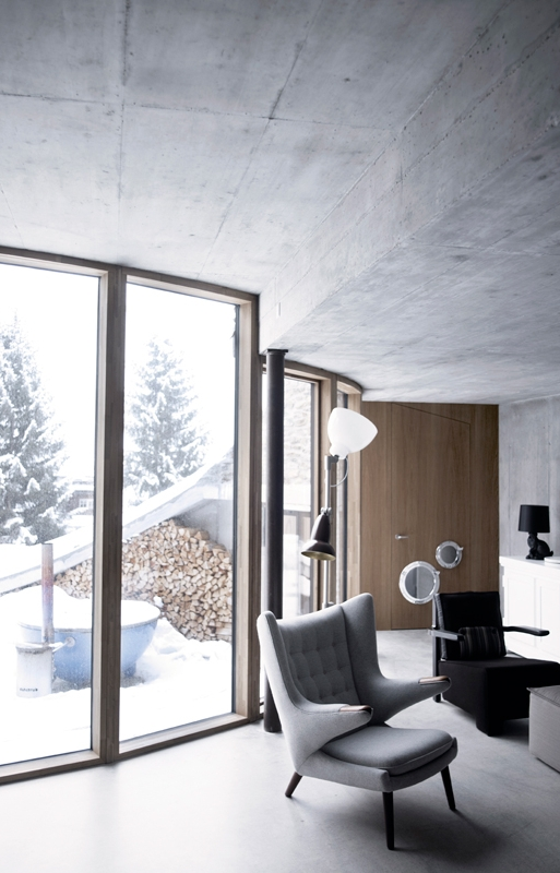 A modern retreat in the Swiss Alpes | home design ideas