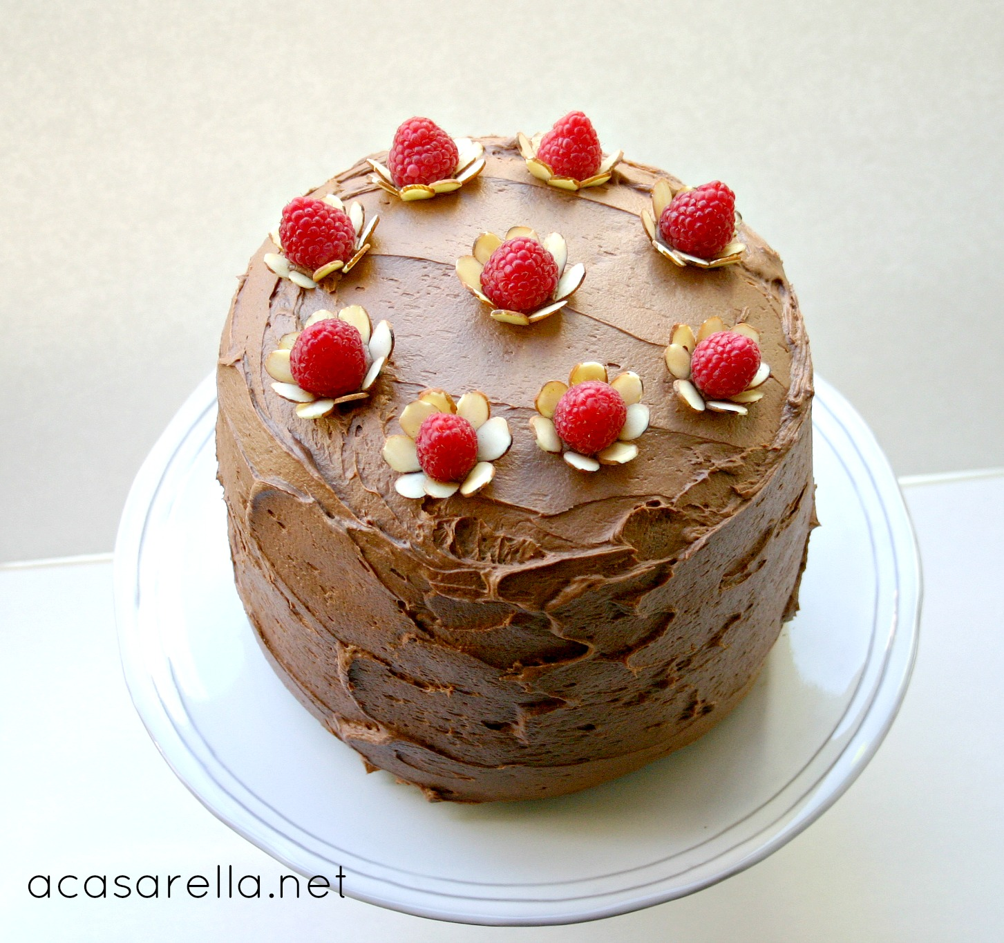 Chocolate Raspberry Cake Decoration : Happy Birthday, Mom!  A Casarella
