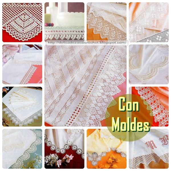 Delicadezas en crochet Gabriela: Variedad de puntillas decorativas