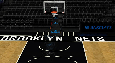 NBA 2K14 Brooklyn Nets Court & Stadium Mod