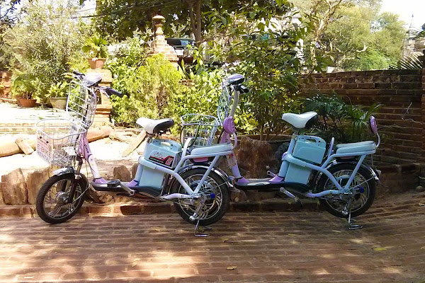Bicicletas electricas para recorrer Bagan
