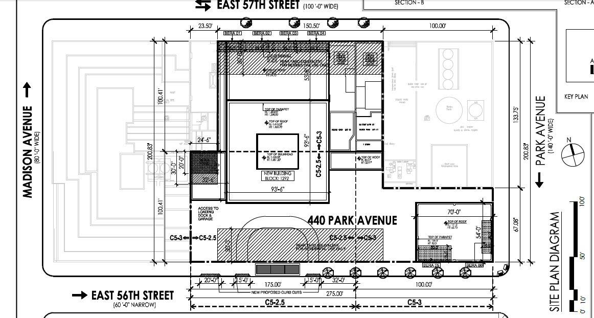 World of architecture 432 park avenue floor plans and for Site plan dimensions