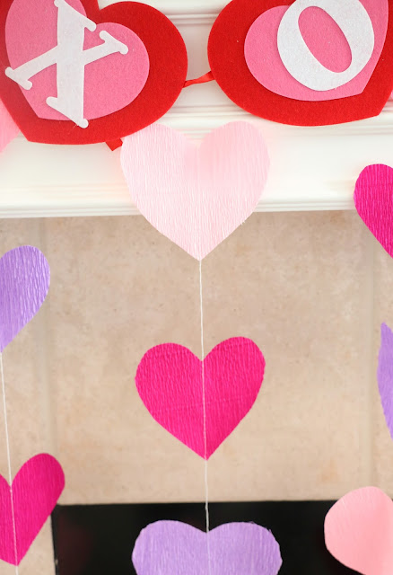 DIY Crepe Paper Heart Decorations