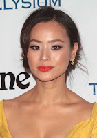 Jamie Chung ample cleavage in sexy yellow gown at The Art of Elysium 2016 HEAVEN Gala red carpet photo
