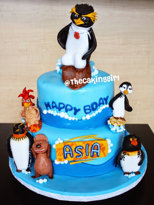 surfs up cake with edible figurines