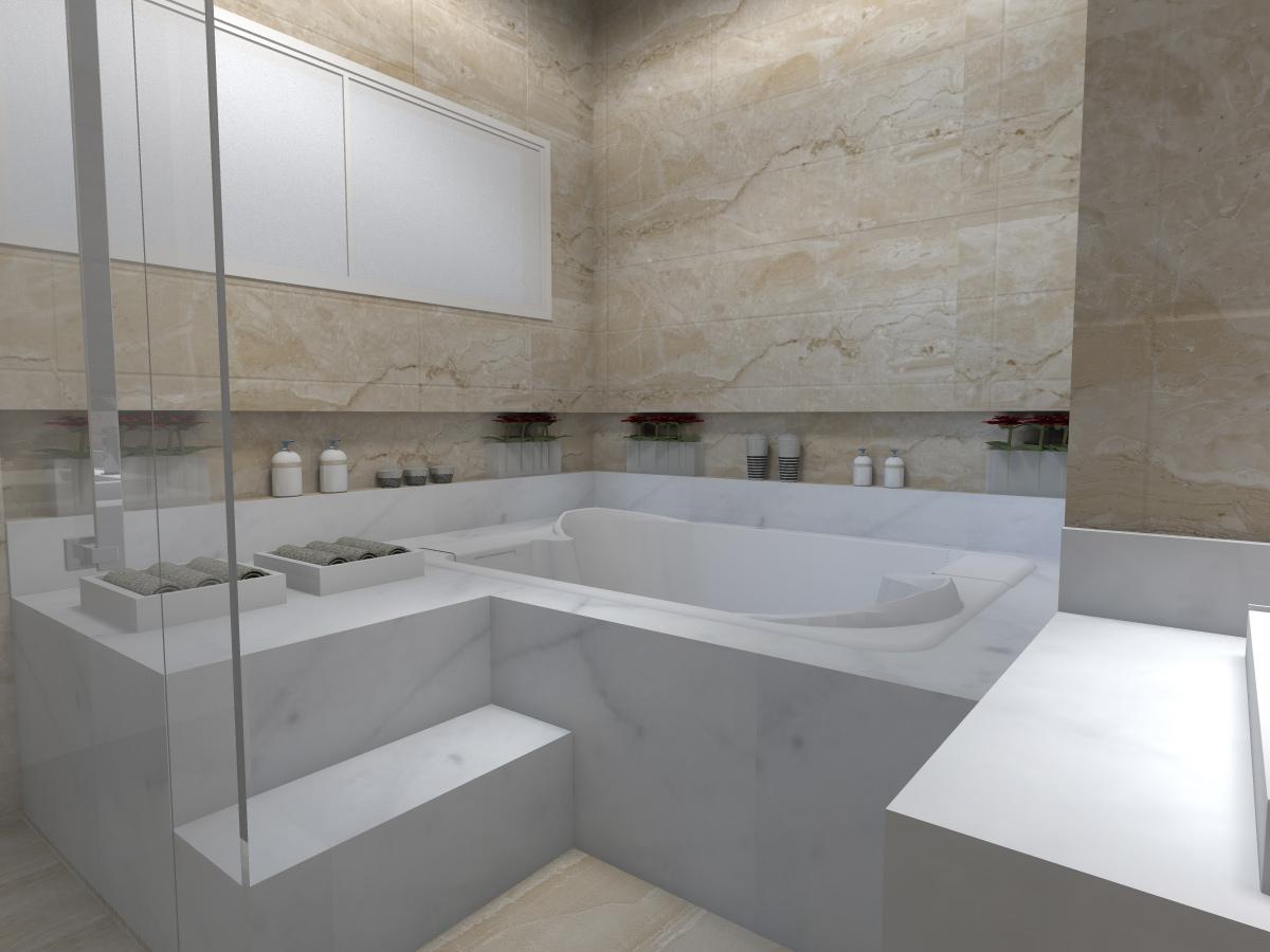 Banheiro De Suite Marcela Dias Arquitetura e Interiores: BANHEIRO  #746957 1200x900 Banheiro Casal Suite