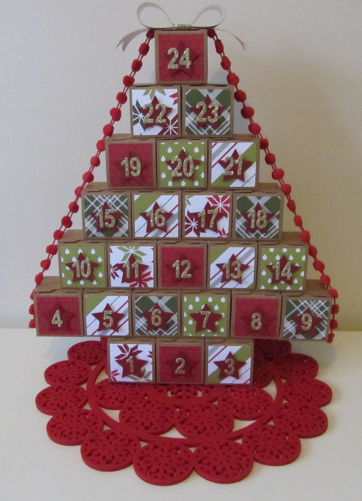 2015 Christmas Advent Tree Class Instructions