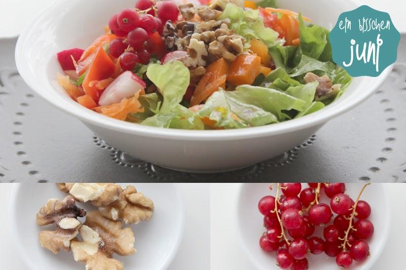 Salat Johannisbeere Walnuss