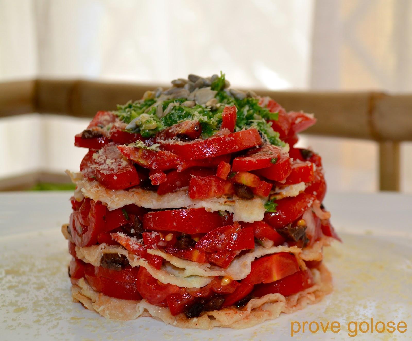 tortino fresco al pomodoro