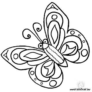 Desenho Para Colorir Primavera borboletas
