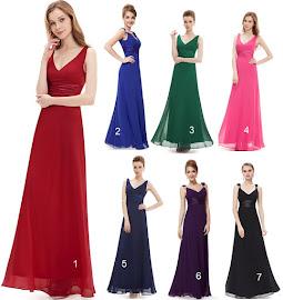 Simple V-Neck Both Shoulder Sequin Buckle Maxi Dress