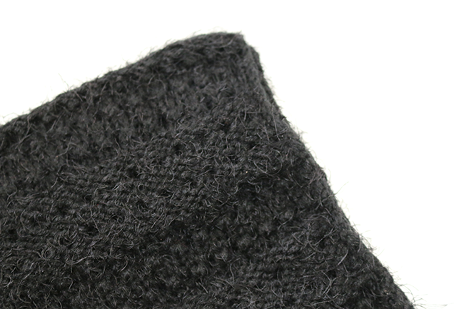 Fluffy snuggly black winter scarf