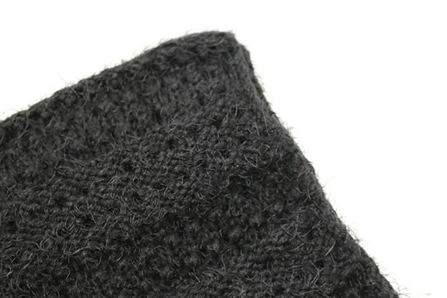 Fluffy snuggly black winter scarf
