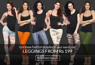 Buy Designer Leggings starts from Rs.199 Only at Zivame