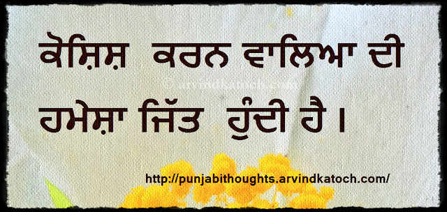 ਕੋਸ਼ਿਸ਼,  Try. win, Punjabi Thought, Punjabi, Quote.
