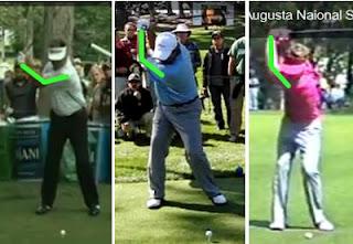 golf left arm elbow kenny perry angel cabrera tom watson