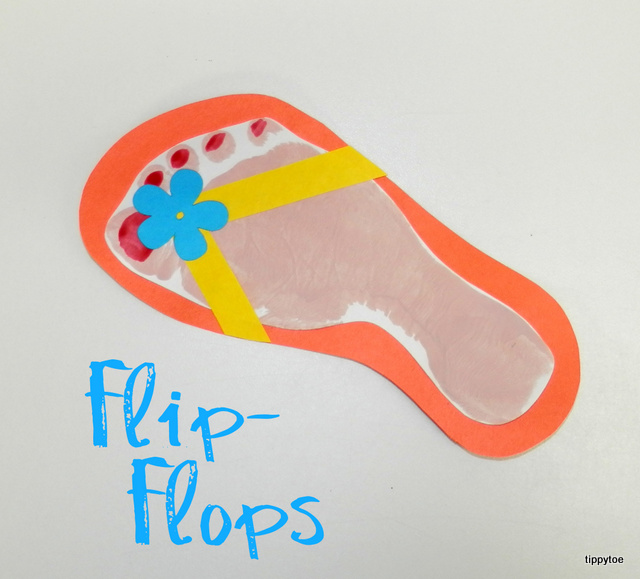 Tippytoe Crafts Footprint Flip Flops