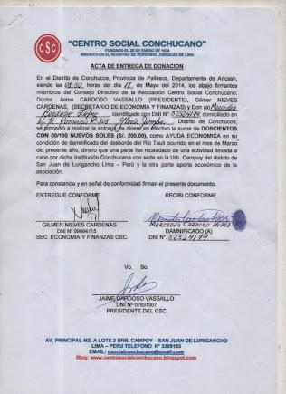 ACTA ENTREGA A MERCEDES CARDOSO LOPEZ