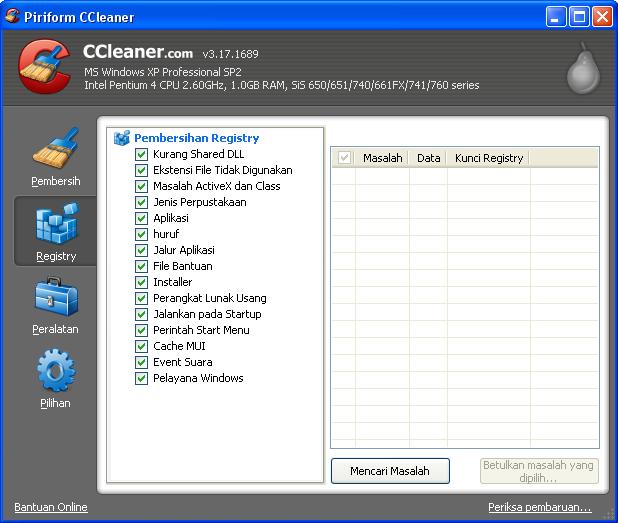Perangkat Lunak NO.1 untuk Pembersihan Registri
