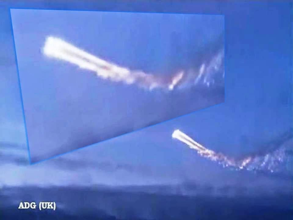 Incredible UFOs Burn Over Russia
