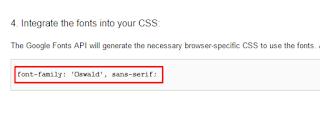 Cara Mengganti Font pada Blog