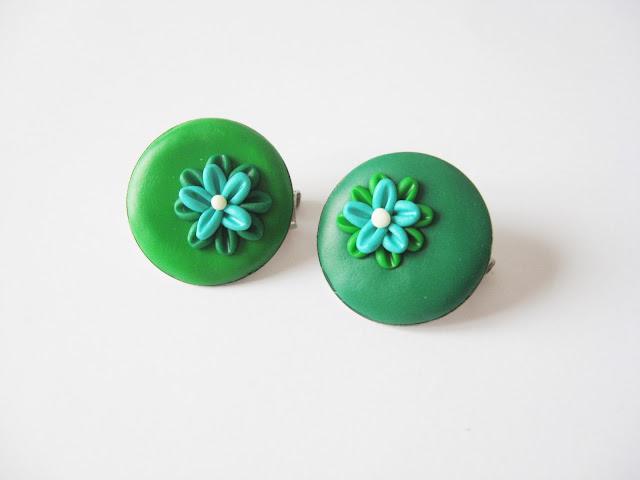bijoux lois broche fleurs fleuries vert