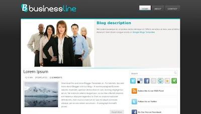 BusinessLine Blogger Template
