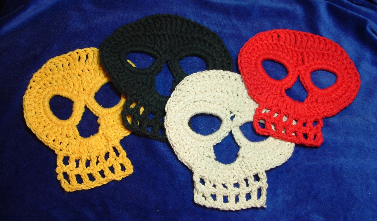 Crochet Skull : ... for the Day of the Dead Crochet Skull the pattern can be found here