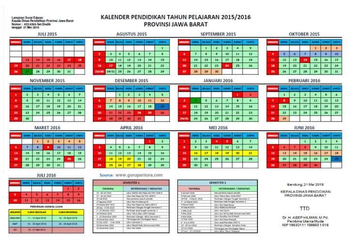 Kalender Pendidikan Tahun 2015 2016 Dari Beberapa Provinsi Sedikit Berbagi